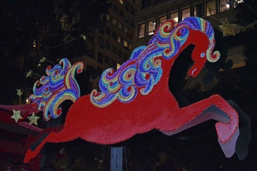 2014 is the year of the wooden horse. Photo by Laura Damase