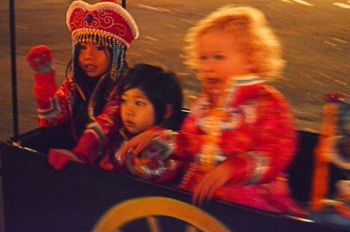 Kids participating in the parade. Photo by Laura Damase