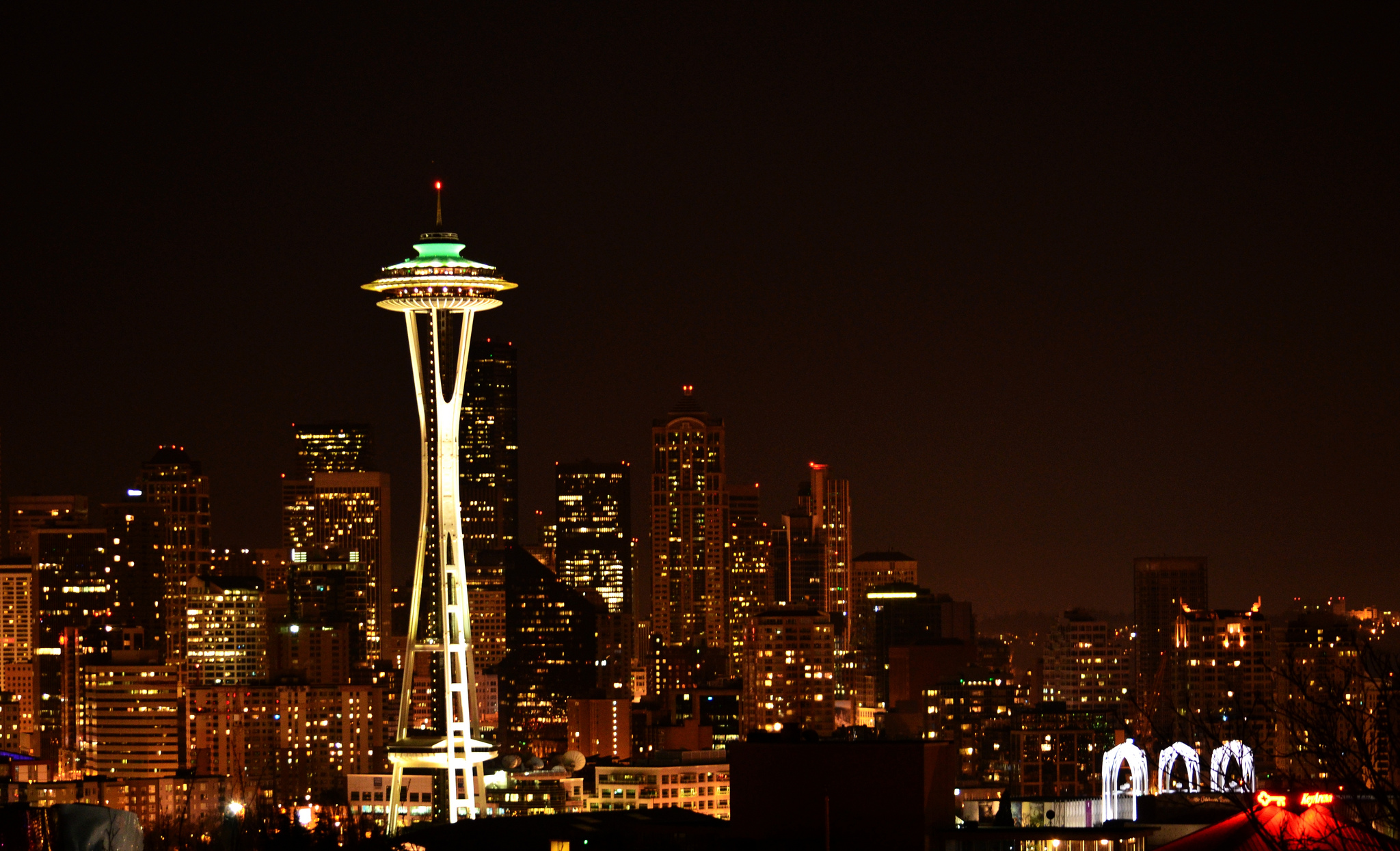 Seattle night scene from Kerry Park Flickr user: Anupam_ts CC 2.0