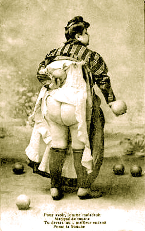 """Kissing Fanny"" postcard from 1896"
