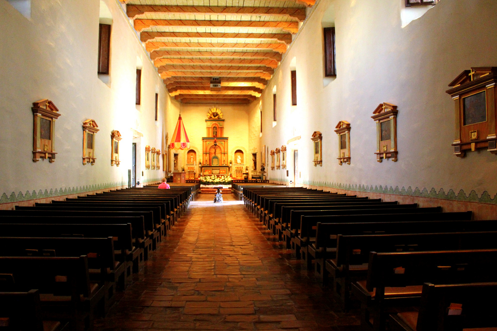 Photo of inside Mission San Diego by Rachel Titiriga (Flickr/CC 2.0)